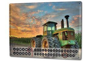 Calendario-perpetuo-Remolcadores-Tractor-Doble-neumaticos-Metal-Imantado