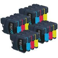 16 Ink Cartridges Bk/C/M/Y (4 Sets) for Brother MFC-J265W MFC-J410 MFC-J415W