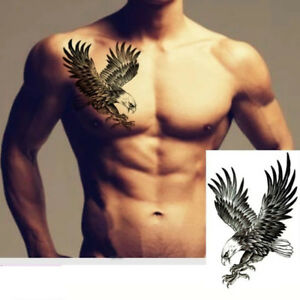 Usa 2 Pcs Waterproof Temporary Tattoo Gun Eagle Flash Sticker Army Body Art Ebay