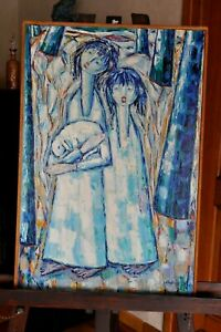 Tableau-Peinture-Huile-sur-toile-Signee-PUZAN-GODJAMARIAN