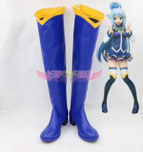 KonoSuba God's blessing on this wonderful world Aqua Cosplay shoes costom MM.800