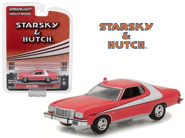 Greenlight 1:64 1976 Ford Gran Torino STARSKY & HUTCH Diecast Model Red 44780A