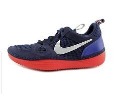 Nike Solarsoft Run Navy Blue White Red Running Shoes Sz 9