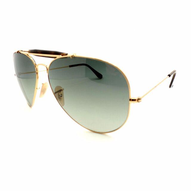 c6eb2dab10 Ray Ban RB 3029 181 71 62 Gold Havana Grey Outdoorsman New Authentic  Sunglasses