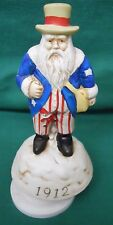 "1912  SANTA NOVELTY TOY MUSIC BOX PLAYS ""SANTA CLAUS IS COMING TO TOWN"" CERAMIC"