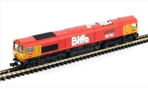 Gaugemaster-gm2210102-Klasse-66-66783-034-der-fliegende-schrieb-034-GBRF-biffa-Livery-N-GA
