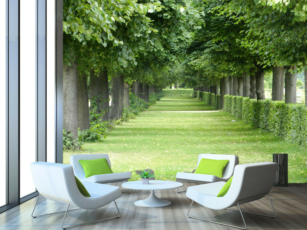 3D Lawn Trees 406 Wallpaper Murals Wall Print Wallpaper Mural AJ WALL AU Kyra