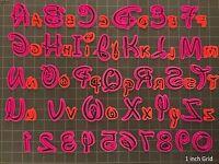 2 In - Disney Font Alphabet Letter / Number Fondant Cutter