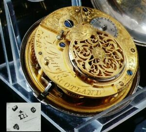 Antique-Silver-Verge-Pocket-Watch-J-Berrefs-Scotland-London-1811