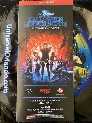Halloween Horror Nights 2020 Brochure 2019 HHN 29 Universal Studios Halloween Horror Nights Brochure