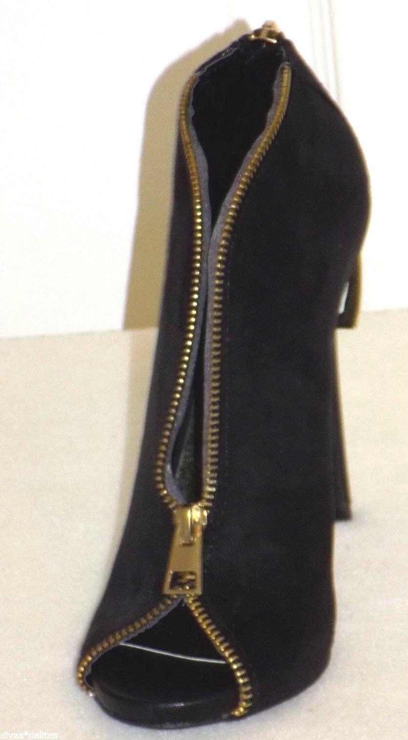 Zigi Soho McKenzie Open Toe Bootie  color  Black Black Black  Size  6 0bf8b5