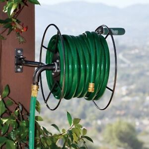 Image Is Loading Heavy Duty Garden Hose Reel Wall Mount Lawn