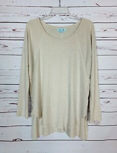 She-Sky-Stitch-Fix-Women-039-s-L-Large-Beige-Long-Sleeve-Spring-Cute-Tunic-Top