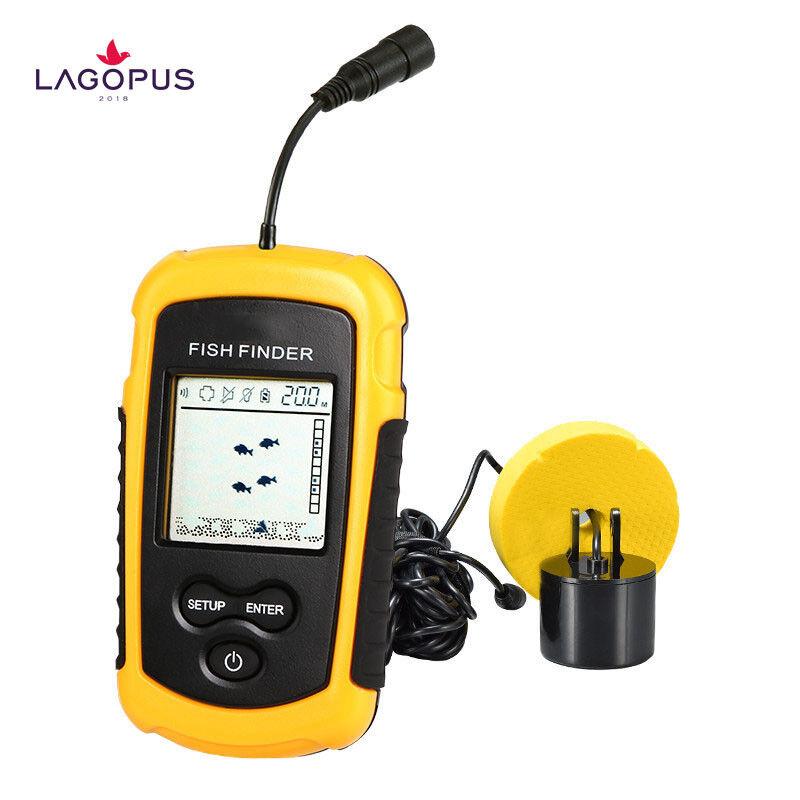 Neu Tragbare Sensor Fisch Finder Farbe LCD Monitor Sonar Sensor Tragbare Angeln Sensor Alarm dc870c