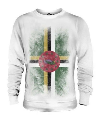 DOMINICA FADED FLAG UNISEX SWEATER TOP DOMINICAN SHIRT FOOTBALL JERSEY GIFT