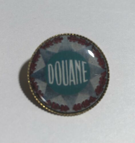 French Douane Gold Plated 25mm Badge