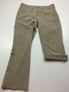 THE-NORTH-FACE-Womens-Sz-8-Beige-Convertible-Pants-Capri-Hiking-Outdoors-Active