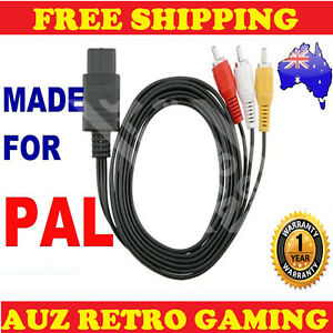 PAL-N64-Super-Nintendo-RCA-AV-Cable-Video-Lead-Original-SNES-amp-Gamecube