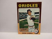 1975 Topps Enos Cabell Card # 247 Baltimore Orioles