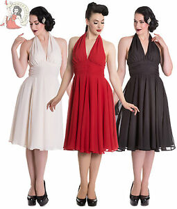 Hell Bunny Marilyn Monroe 50s Style Evening Party Dress