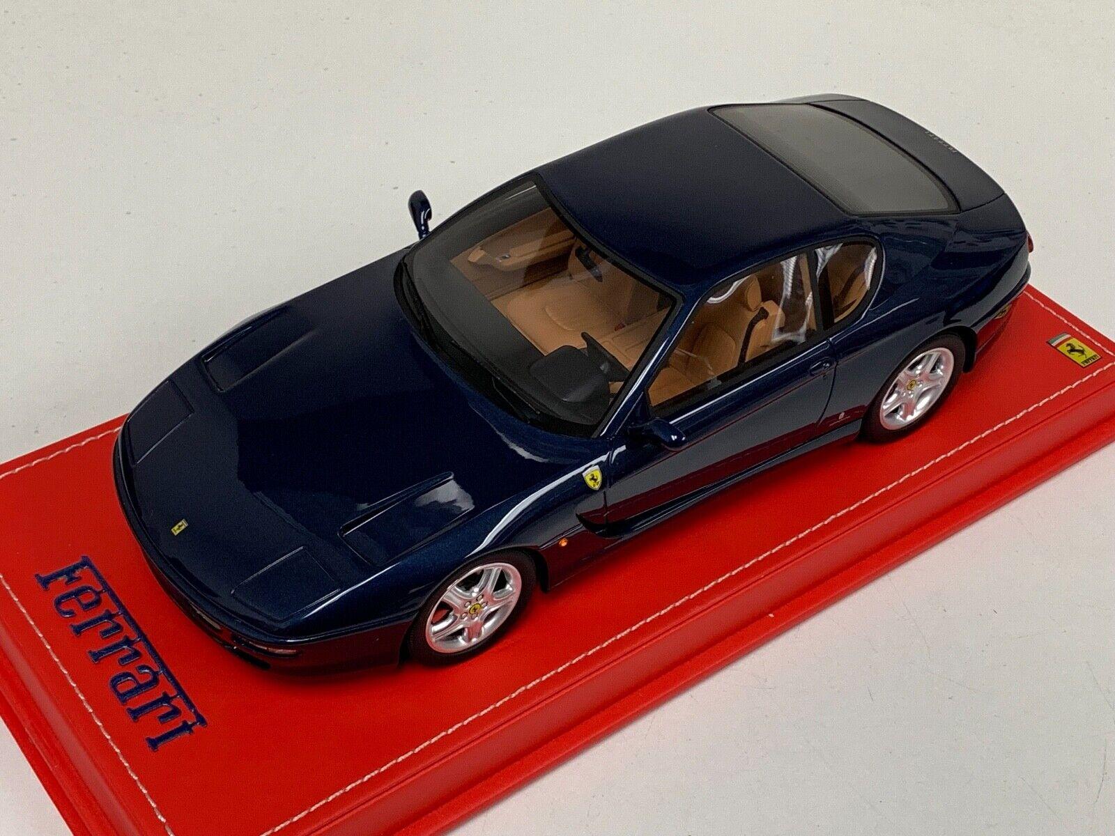 1 18 GT Spirit Ferrari 456 GT desde 1992 En Swaters blu GT239 Base de Cuero rosso