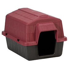 Small Pet Plastic House Puppy Dog Barn Shape Shelter Raised Floor Rear Air Vent