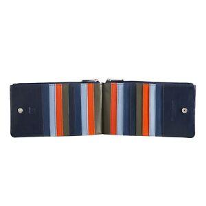 DuDu-Portafoglio-donna-a-busta-in-pelle-Navy-con-18-porta-carte-di-credito