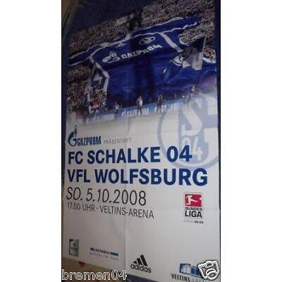 Plakat + Poster + Schalke + VfL Wolfsburg + 05.10.2008