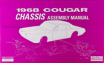 1968 Mercury Cougar Chassis Assembly Manuale 68 Sospensione Freni Sterzo Altro Prezzo Di Vendita