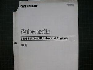 image is loading cat-caterpillar-3408e-3412e-engine-wiring-diagram-schematic -