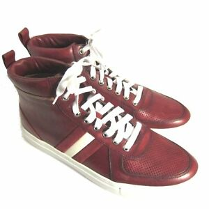 7010db137ed36 C-1564100 New Bally Hervey Red14 Calf Washed Sneakers Shoes Size US ...