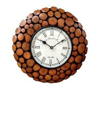 Wooden Antique Wall Clock Fully Handcrafted