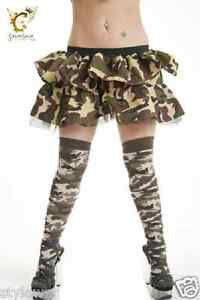 2082faf341ae6 Ladies Thigh High Over The Knee Army Camouflage Armed Force Style ...