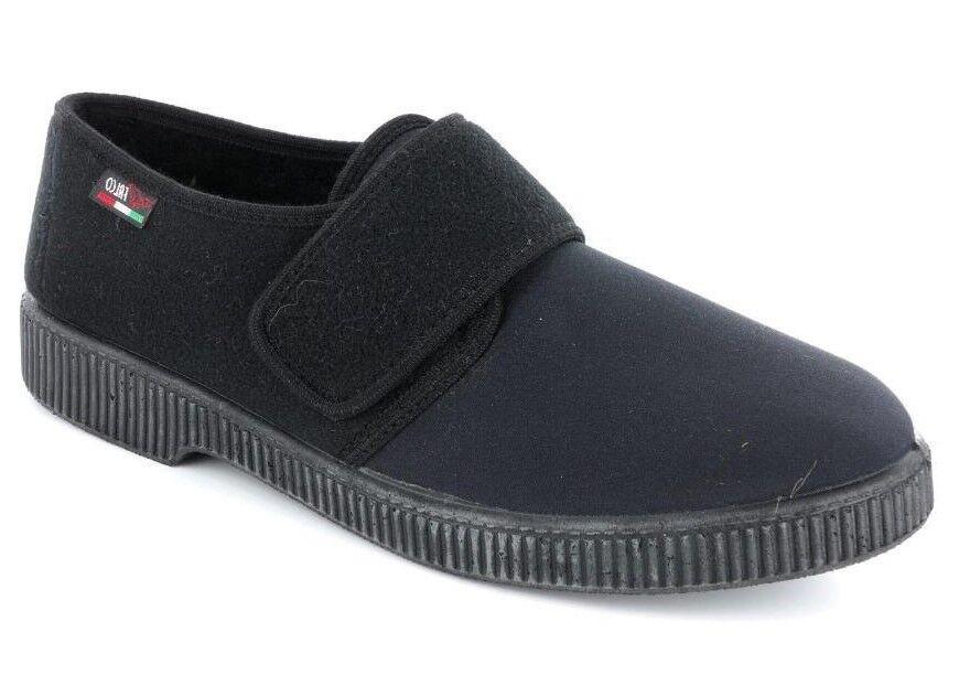 2cb74e76c0f77 GAVIGA art 514 slipper stretch MAN italian black soft tear ...