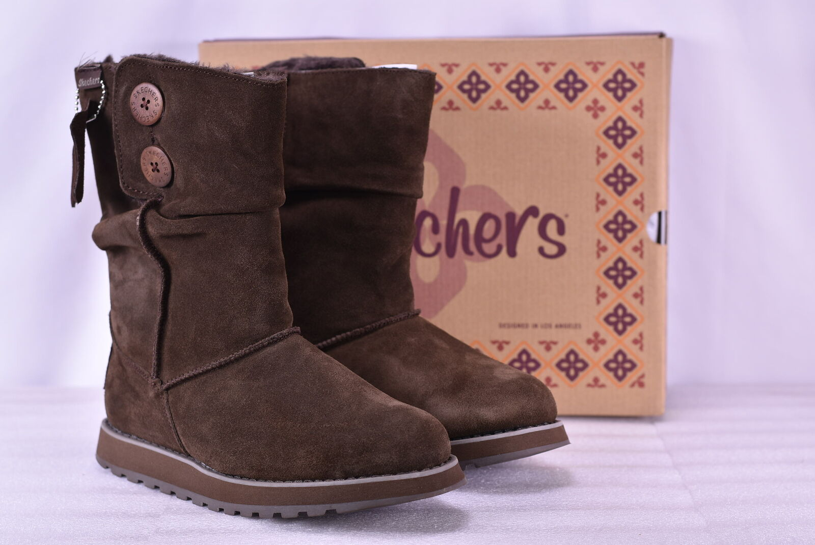Women's Skechers Keepsakes-Freezing Temps Boots Chocolate 5