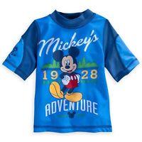 Disney Store Mickey Mouse Rash Guard Swim Shirt Boy Size 4