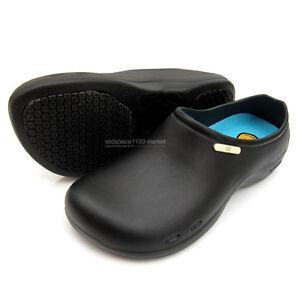 Women Chef Shoes Comfort Clogs Kitchen Non slip Shoes Safety Black ...
