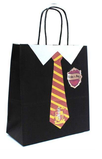 PERSONALISED HARRY POTTER HOGWARTS Gryffindor Party Gift Loot Bags Birthday Hen