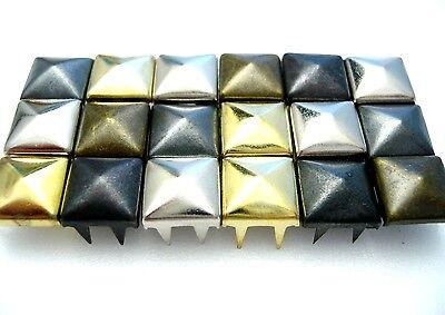 Latón Macizo forma pirámide postes 8 10 12 mm Cuero Zapatos Punk Chaqueta. ropa.