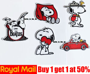 Snoopy-Dogs-Cartoon-Iron-On-Sew-On-Patch-Badge