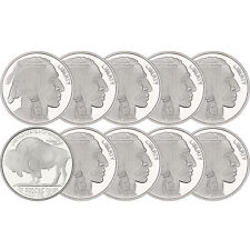 No Date Buffalo Medallion 1oz .999 Silver--10pc