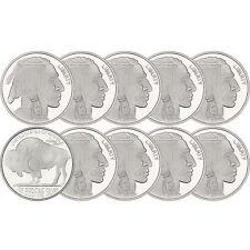 No Date Buffalo Medallion 1oz .999 Silver--10pc