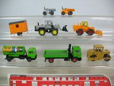 N256-0,5# Wiking H0 Modelle (8 St): Radlader, Dampfwalze, MAN LKW, 2x 657,…