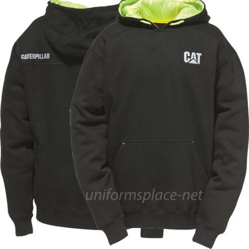Pullover Sweater Caterpillar Sweatshirt Men CAT Stand-Out Hooded Fleece Zipper