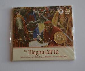 Magna Carta 2015 UK £2 Brilliant Uncirculated Coin pack Sealed