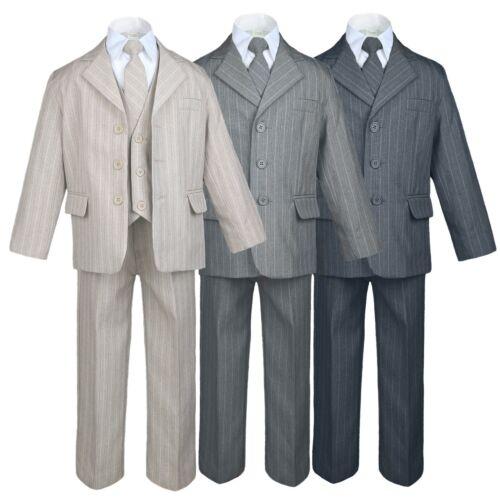 New Infant Toddler Teen Boy  Wedding Graduation Tuxedo SUIT S M L-20 Blue Gray