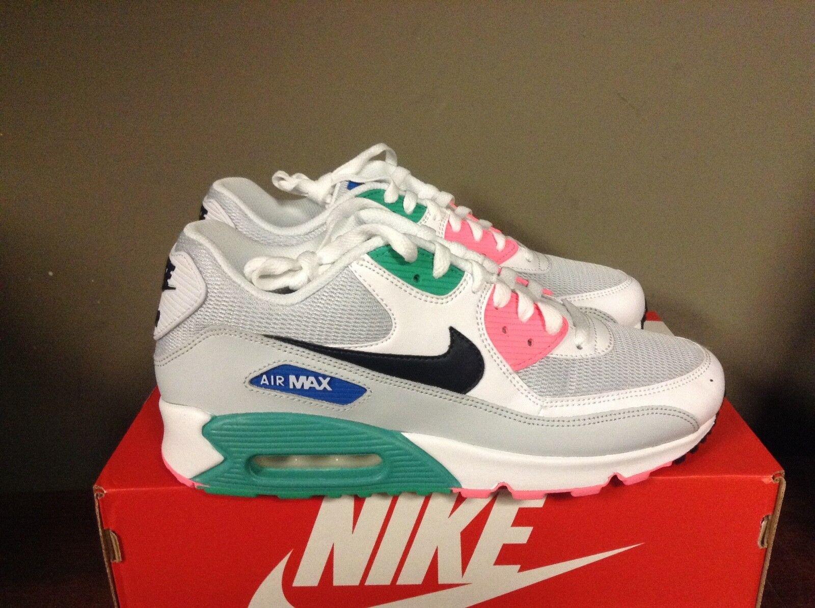 Nike air max 90 uomini essenziali cosa / obsidian-pure platinum-blue aj1285 100 nuovi