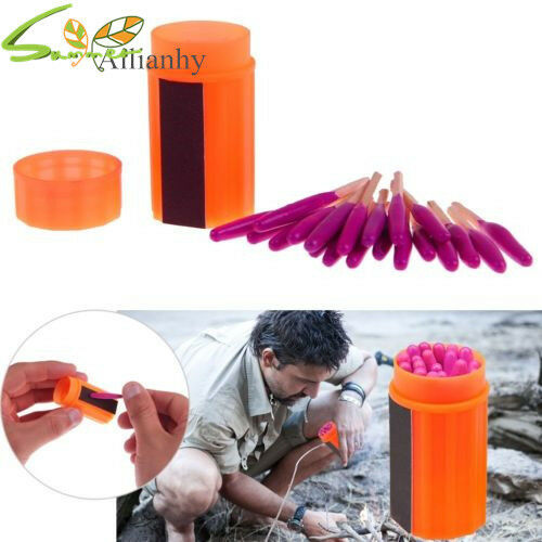 Outdoor Storm proof Waterproof Emergency Survival Matches Lighter Gear Tool Ahy