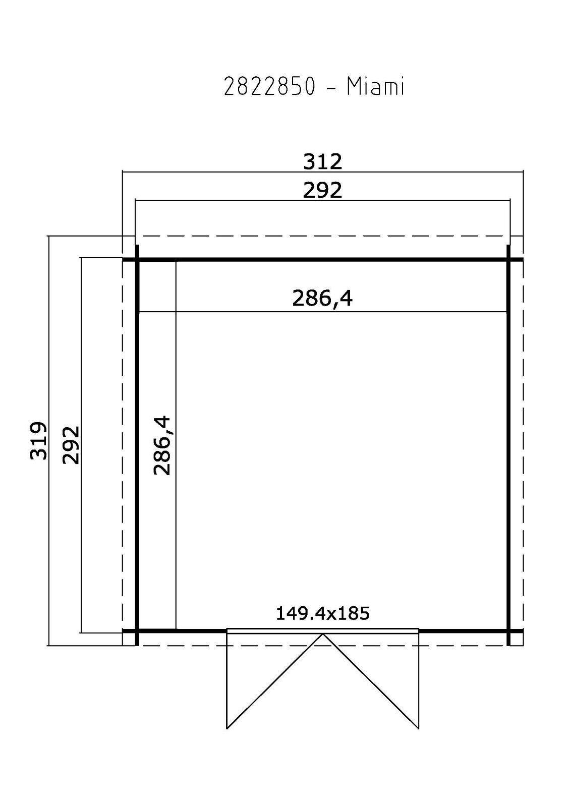 28 mm gartenhaus 3x3 m ger tehaus schuppen blockhaus. Black Bedroom Furniture Sets. Home Design Ideas