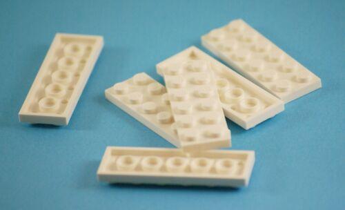 6x LEGO ® PIASTRE Plate Parts NO 3795 2x6 scanalata Studs BIANCO WHITE NEW